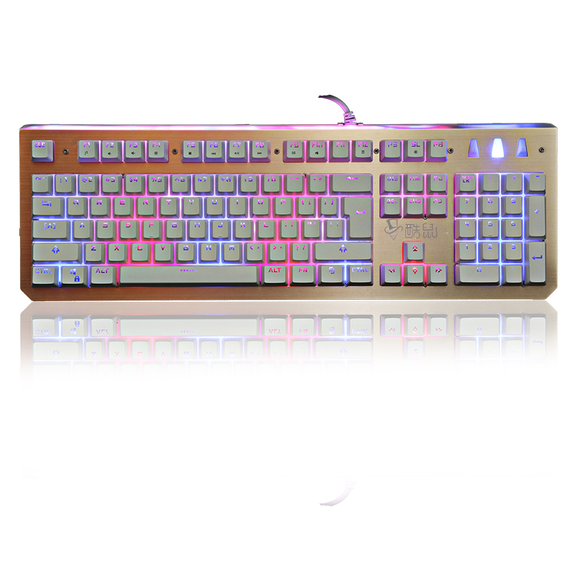 Zimtown Cooling 3 colors Rainbow Backlight Illuminated Wired Gaming Keyboard for Laptop