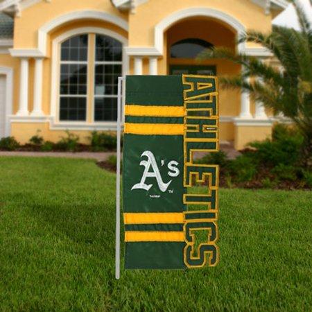 Oakland Athletics 18'' x 10'' Cut-Out Applique Garden Flag - No Size Oakland Athletics Banner Flag