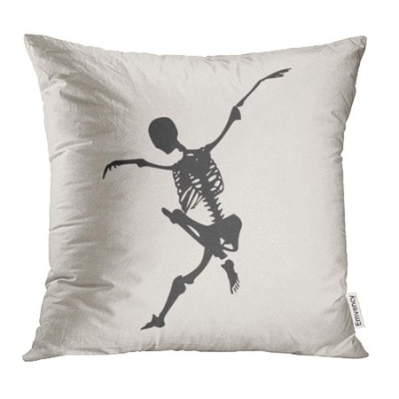 YWOTA Anatomy Human Skeleton Jump Halloween Party Design Backbone Biology Body Bones Pillow Cases Cushion Cover 16x16