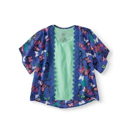 Lace Trim Kimono and Tank, 2-Piece Set (Little Girls & Big Girls)](Kimono Child)