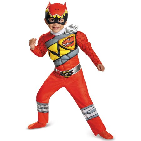 Power Rangers Dino Charge Red Ranger Muscle Child Halloween Costume, Small (4-6) - T Rex Dinosaur Halloween Costume
