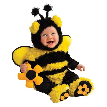 Rubie's Noah's Ark Collection Buzzy Bee Romper Costume (6-12 Months) - Infant Bee Costume