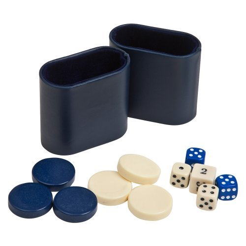 Complete Backgammon Accessory Kit with 1.25 in. Checkers