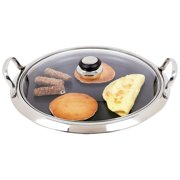 Chef' s Secret® by Maxam® 12-Element Stainless Steel Round Griddle