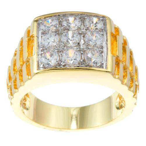 Kate Bissett 14k Gold Overlay Cubic Zirconia Fashion Ring Size 14
