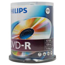 Dvd R 16X Silver Branded Blank Dvdr Media Disc  100 Pack