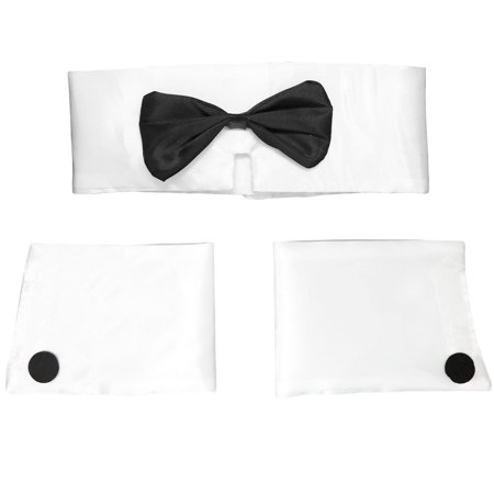 Party 1 Superstore Halloween Costumes (Collar and Cuff Set – Male Dancer Sexy Stripper Playboy Costume Accessories for Halloween, Bachelor Parties - 1)