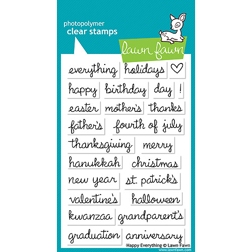 Lawn Fawn Clear Stamps-Happy Everything