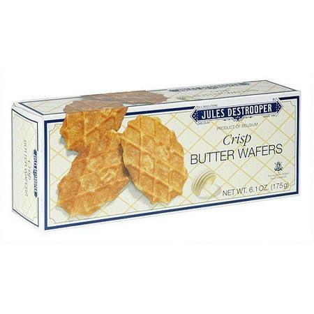 Jules Destrooper Crisp Butter Wafer Cookies, 6.1 oz (Pack of 12)