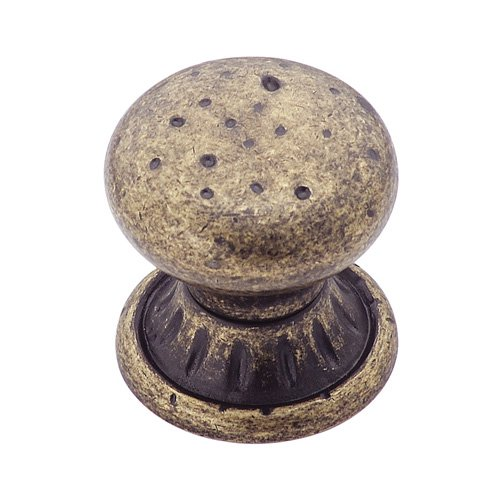 Ambrosia 1-1/4 in (32 mm) Diameter Weathered Brass Cabinet Knob