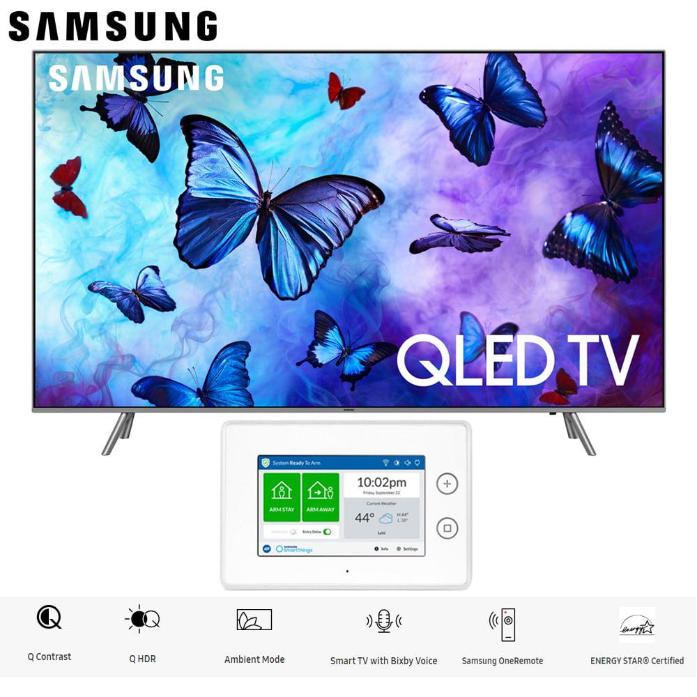 "Samsung QN82Q6FNA QN82Q6 QN82Q6F 82Q6 82"" QLED Smart 4K UHD TV (2018 Model) with SmartThings ADT Home Security Starter Kit - (F-ADT-STR-KT-1)"