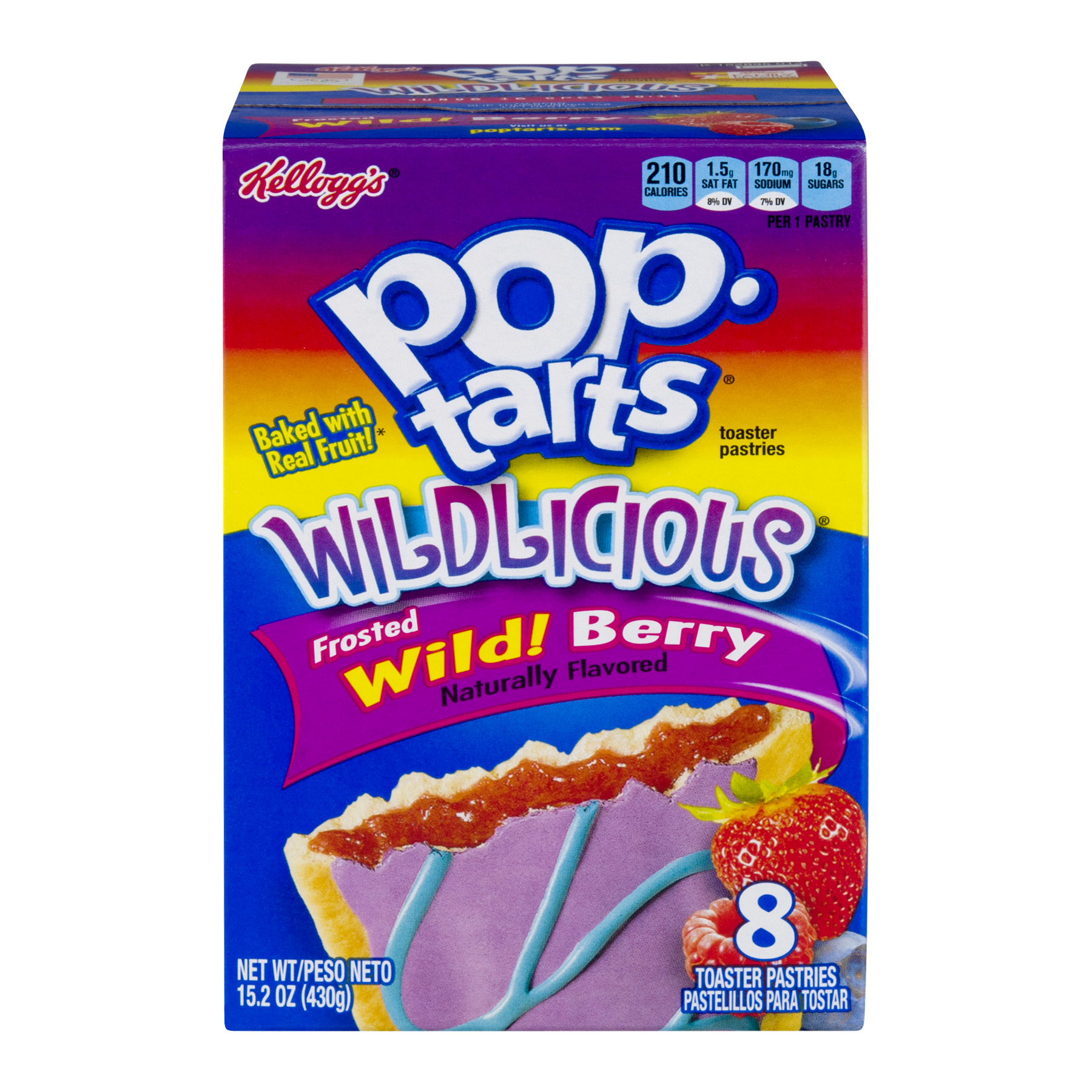 Kellogg's Pop-Tarts Wildlicious Frosted Wild! Berry, 8ct 15.2 OZ