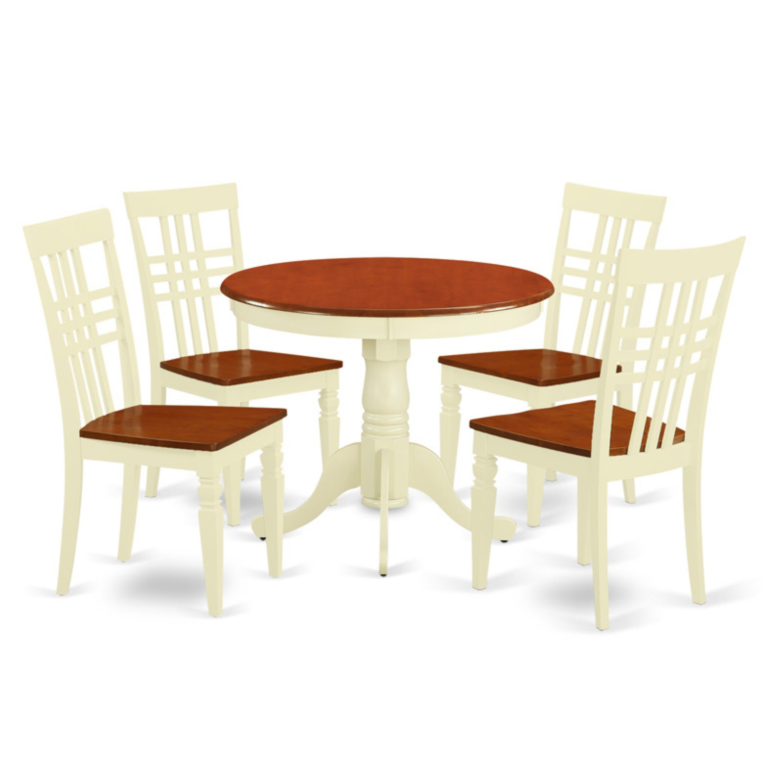 East West Furniture 5 Piece Triple Crossback Kitchen Dinette Dining Table Set