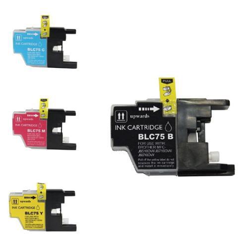 Insten 5 Packs 2x Black +C+M+Y Printer Ink Compatible for Brother LC75 LC-71 MFC-J280W MFC-J425W MFC-J430W MFC-J435W MFC-J5910DW MFC-J6510DW MFC-J6710DW MFC-J6910DW MFC-J835DW Printer