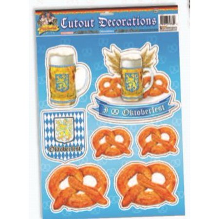 Oktoberfest Cutouts 1/Pkg Pkg/3 for $<!---->