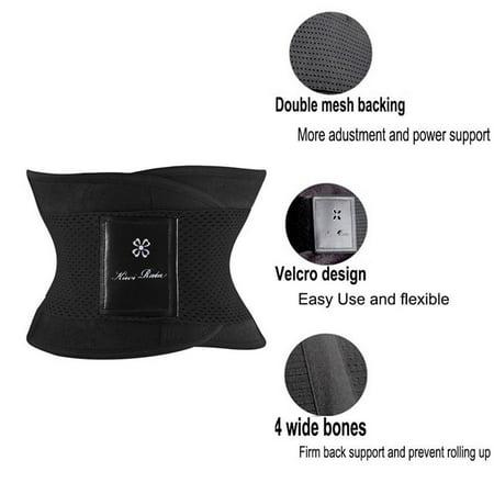 SLIMBELLE Waist Trimmer Belt for Men and Women Neoprene Sweat Sauna Girdle Sport Slimming Back Support Body