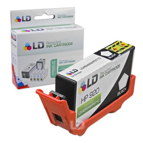 LD Remanufactured Replacement for Hewlett Packard CD971AN (HP 920) Black Inkjet Cartridge for use in HP OfficeJet 6000, 6500, 6500a, 6500a Plus, 7000, and 7500a Printers