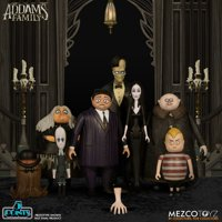 The Addams Family 5 Points Gomez & Morticia, Wednesday & Grandma, Pugsley & Fester, Lurch & It Set of 4 Action Figure 2-Packs