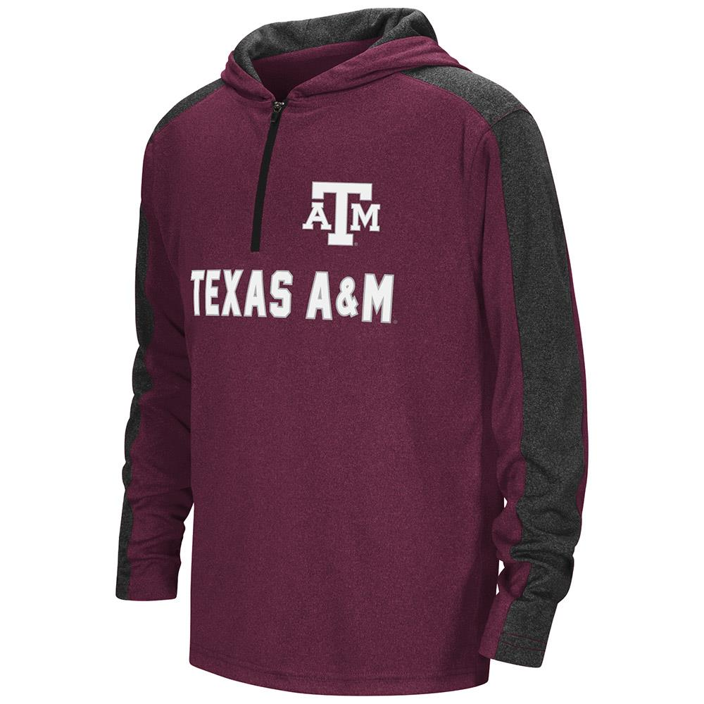 Youth Texas A&M Aggies Quarter Zip Hooded Windshirt - L