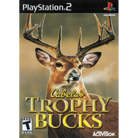 Cabelas Trophy Bucks - PS2 Playstation 2 (Refurbished) Pre-owned video game in very good condition.  Comes with case with original artwork and game disc.  Case may have some wear as it is a used item.  Game disc may have been refurbished.  Game has been tested to ensure it works.