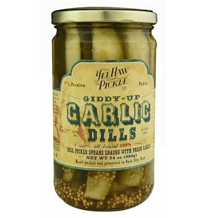 Dill Pickles Spears Loaded With Fresh Garlic (Pack of 18)