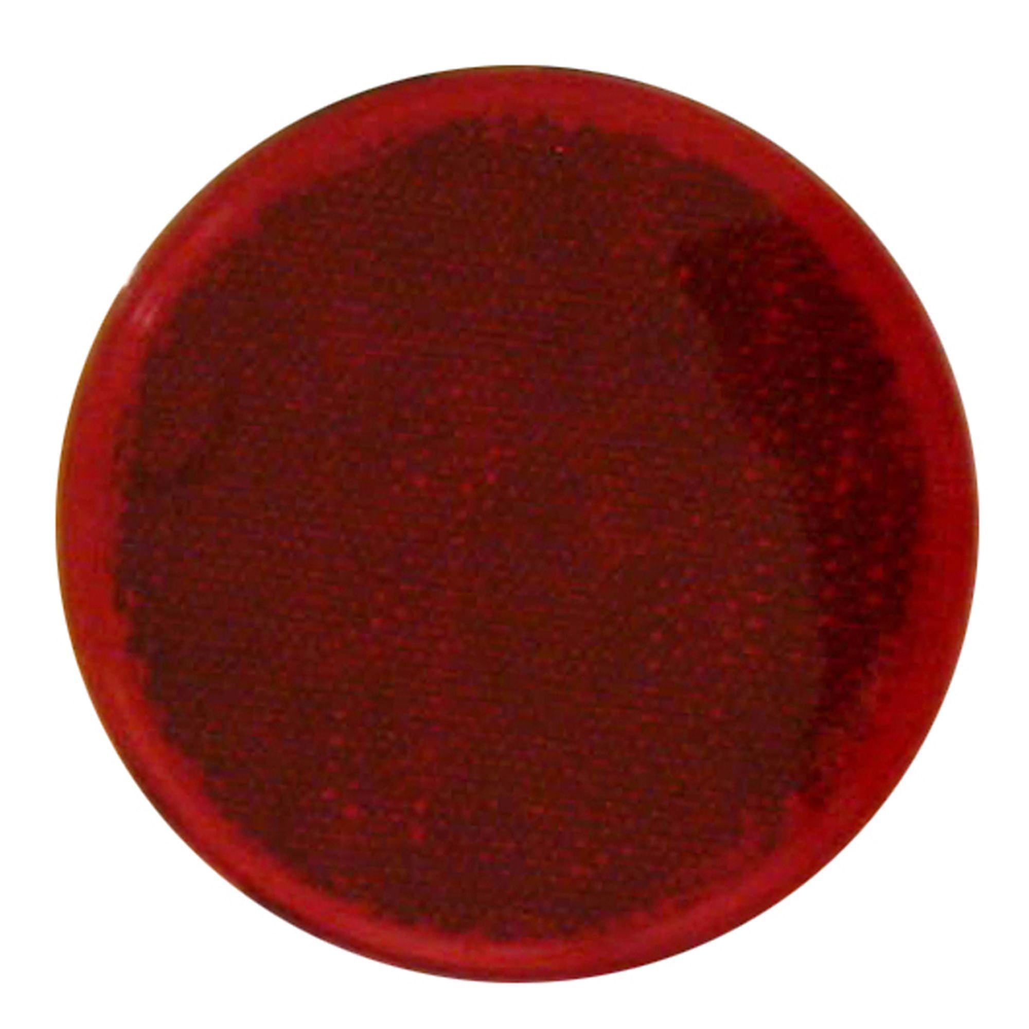 Pilot Automotive NV-5067R 3 inch Round Stick-on Side Marker / Reflector-Red Size: 3-5/32 x 7/32