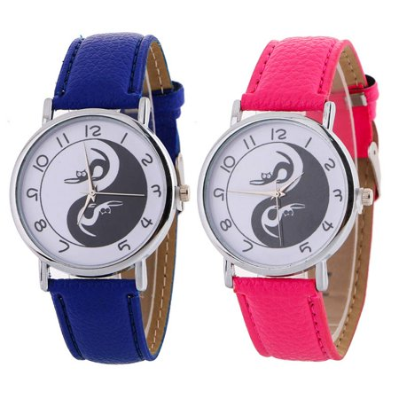 outdoorline Chinese Yin Yang Harmony Round Dial Quartz Watch Alloy Analog Wristwatch Hand Accessory Gift - image 6 de 9