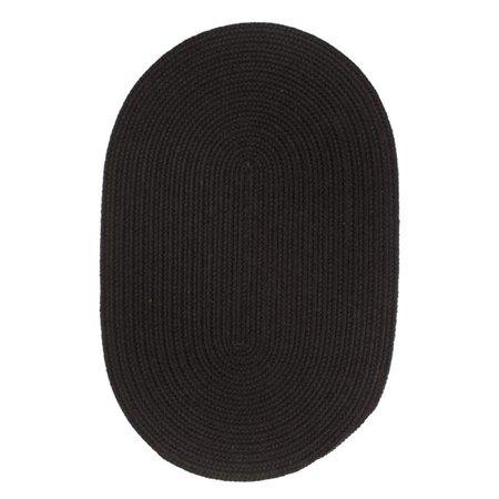 Rhody Rug S112R096X096 Solid 8' Wool Rug Black - image 1 de 1