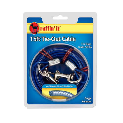 Westminster Pet 29115 Vinyl-Coated Dog Tie-Out Cable-15' TIE-OUT CABLE