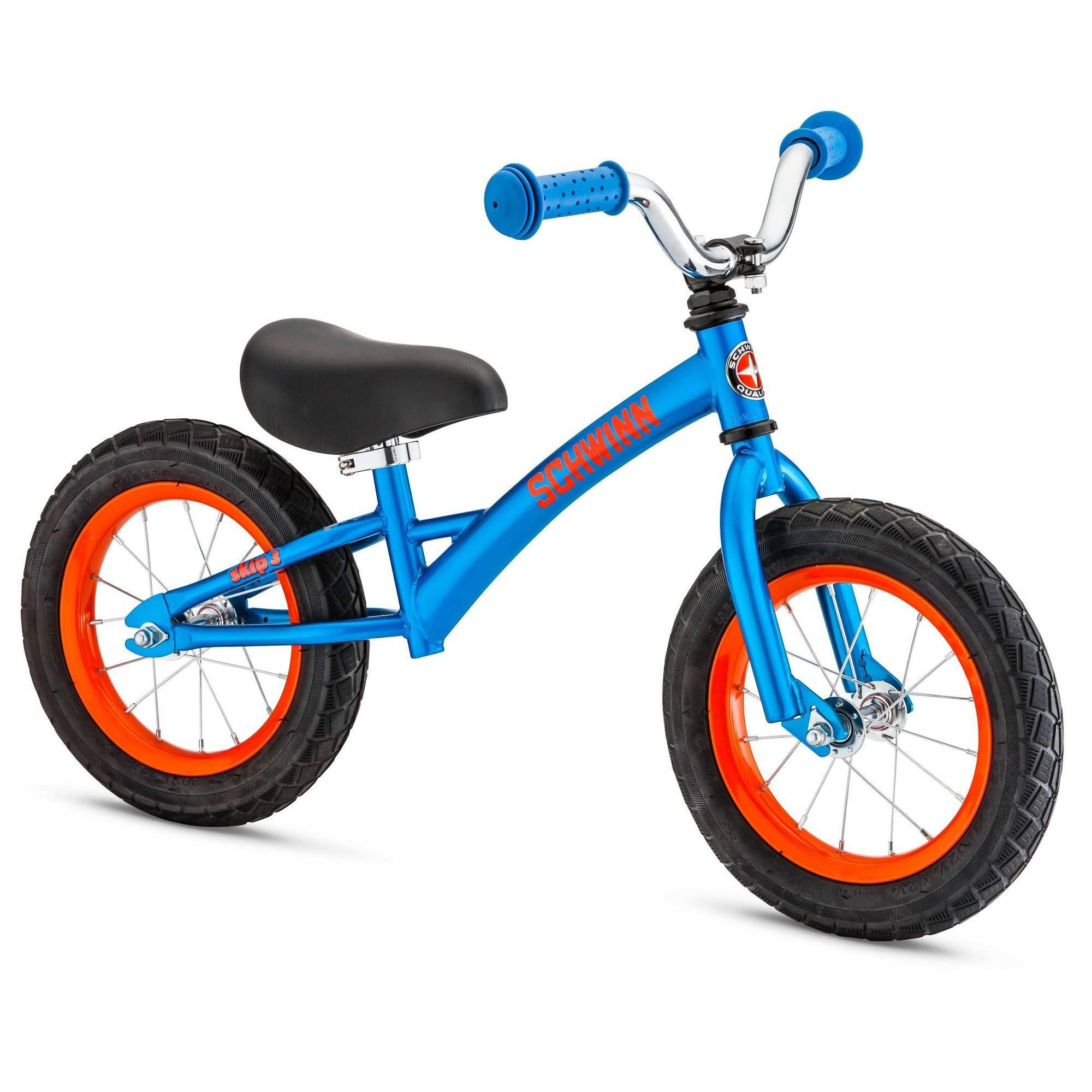 "12"" Schwinn Skip 3 Balance Bike, Blue / Orange"