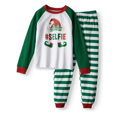 Family Pjs Holiday Elf Selfie Pajamas, 2-piece Set (Little Boys & Big - Jovie Elf