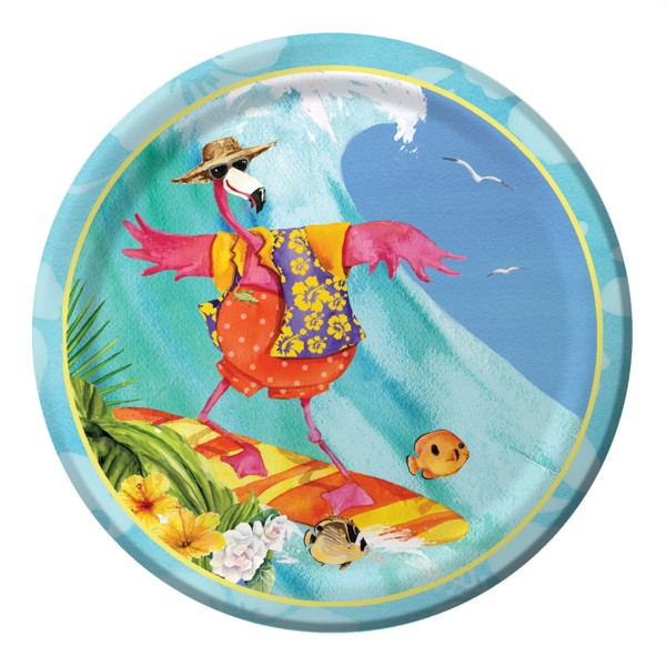 Flamingo Party 9 inch Lunch/Dinner Plates (8 ct)