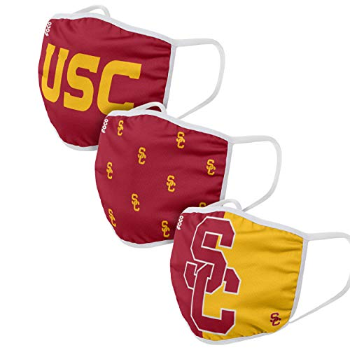 3 Pack Adult FOCO USC Trojans NCAA Face Cover