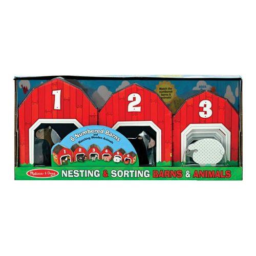 "Children's Melissa & Doug Nesting & Sorting Barns & Animals  16"" x 7.5"" x 6"""