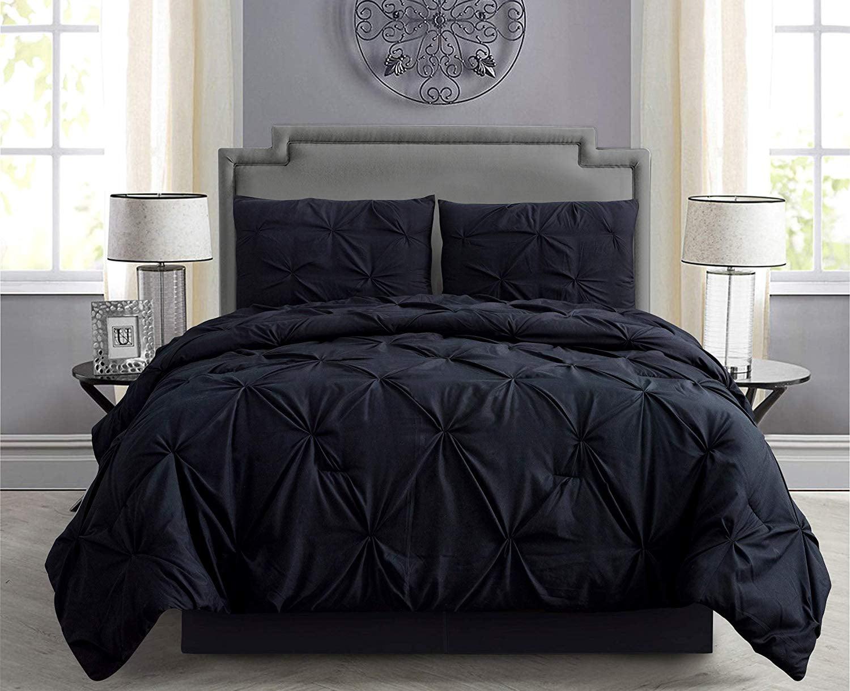 6 Piece Comforter Set Pintuck Complete Bed Set w// Smart Sheet Twin Twin XL