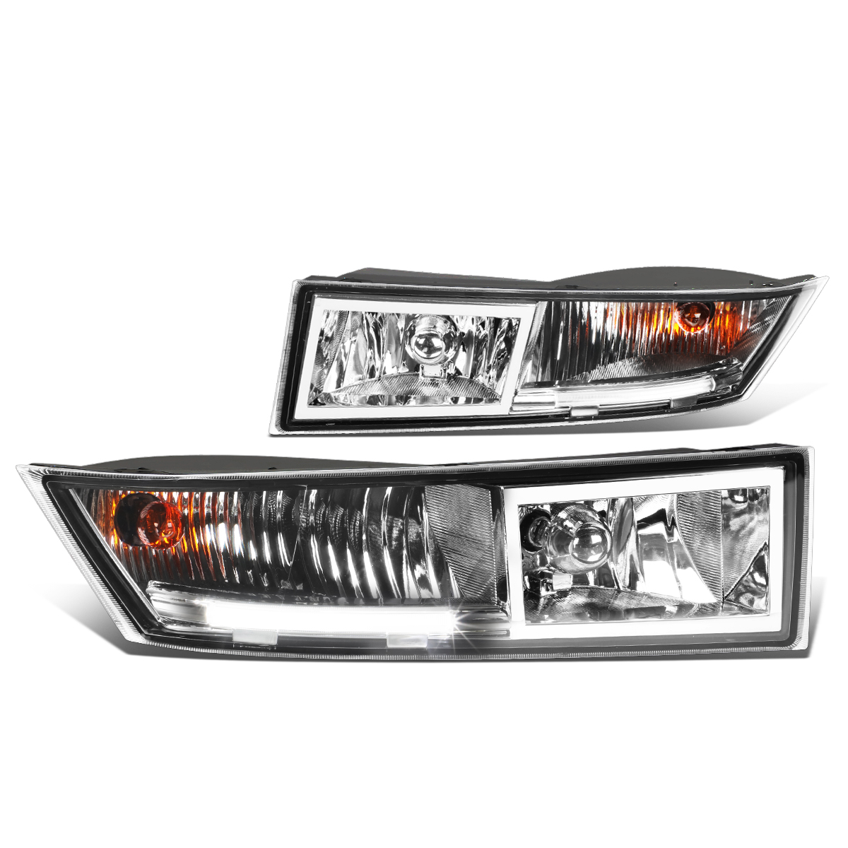 For 07-14 Cadillac Escalade ESV/EXT Pair Bumper Driving LED DRL Fog Light/Lamp Clear Lens 08 09 10 11 12 13