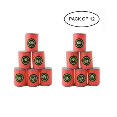 Eva Shoot Foam Bullet Target For Blasters Kids Toy  12 Pcs