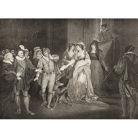AllS Well That Ends Well Act V Scene Iii Rousillon The CountS Palace King Countess Lafeu Bertram Helena Diana Lords Attendants And Widow From The Boydell Shakespeare Gallery Published Late 19Th
