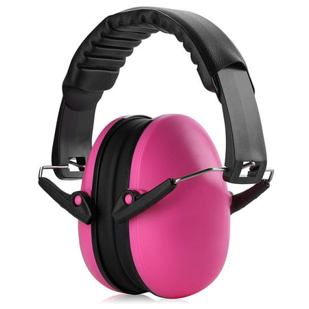 Ear Muffs Noise Protection - Pink Hearing Protection and Noise Cancelling Reduction Safety Ear Muffs, Fits Children and Adults for Shooting, Hunting, Woodworking, Gun Range, Mowing, and More by