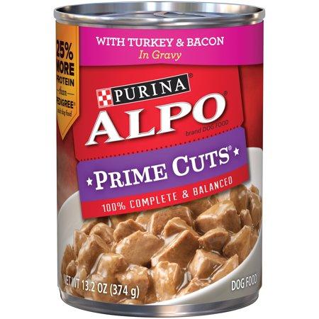 Purina Alpo Prime Cuts With Turkey   Bacon Wet Dog Food  13 2 Oz