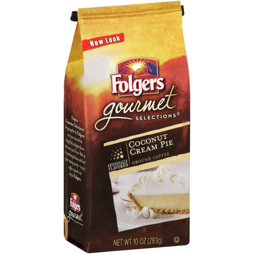 Folgers Gourmet Selections Coconut Cream Pie Ground Coffee, 10 oz