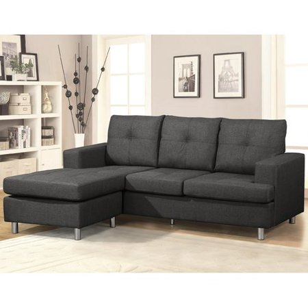 Amazing Us Pride Furniture Sonic Modern Reversible Chaise Sectional Sofa Dark Grey S0101 Andrewgaddart Wooden Chair Designs For Living Room Andrewgaddartcom