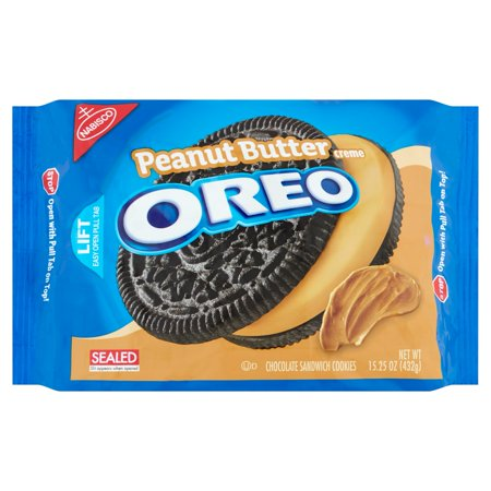 Nabisco Oreo Peanut Butter Creme Chocolate Sandwich Cookies 15 25Oz