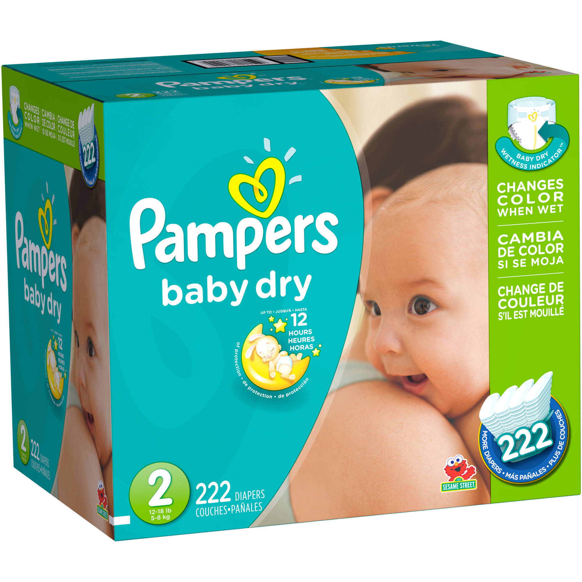 Pampers Baby Dry Diapers, Size 2 (Choose Diaper Count)