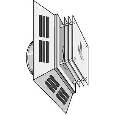 Square Horizontal Termination Cap (DirectVent Pro 4in ID - 6 5/8in OD Horizontal Square Termination Cap )