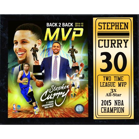 12X15 Stat Plaque - Stephen Curry Golden State Warriors 2016 MVP](Golden State Warriros)