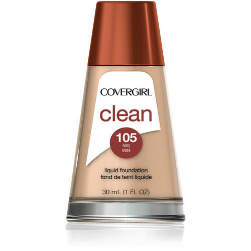 COVERGIRL Clean Liquid Makeup for Normal Skin, 105 Ivory, 1 Fl Oz