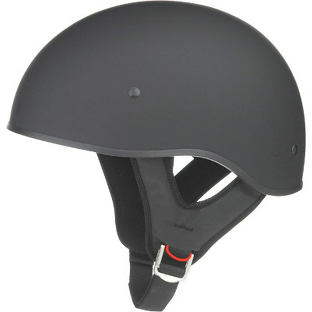 Gmax Solid GM45 Naked Flat Black Half Helmet 2014