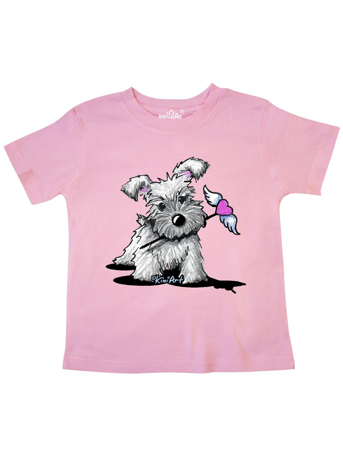 Schnauzer With Heart Toddler T-Shirt - KiniArt