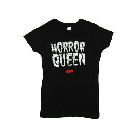 Motionless In White Horror Queen Web Girls Juniors Black T Shirt](Horror Girls)